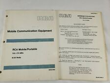 RCA Mobile Communication Equipment Portable Radio Manual Engineering Department