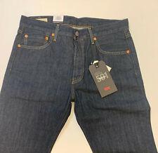 Levis 501 0162 marlon Rinsed jeans straight leg clásico alta tiro 100% algodón