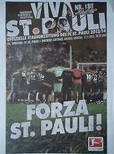 Programm 2013/14 FC St. Pauli - Energie Cottbus