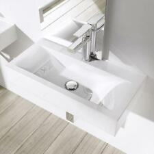 Durovin Wall Hung Countertop White Gloss Ceramic Basin Sink 600mm X 310mm