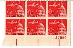 Scott C64 8¢ Jet over Capitol MNH Free shipping in USA!