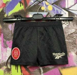 Liverpool London Football Soccer Shorts Vintage Reebok Kids Boys Size 3/4 Years
