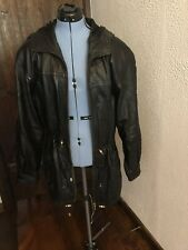 Black Leather Limited Draw String Waist Coat Small