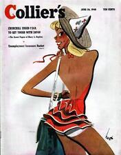 Vintage Collier's Magazine- June 26, 1948, Winston Churchill, F.D.R