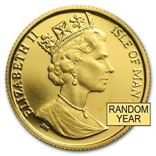 Isle of Man 1/20 oz Gold Angel BU/Proof (Random Year) - SKU #28128