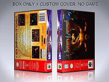 MORTAL KOMBAT 4. Box/Case. Nintendo 64. BOX + COVER. (NO GAME).