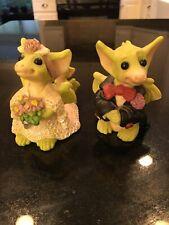 The Whimsical World of Pocket Dragons Lot Of 2. Bride + Groom Wedding