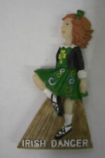 Irlanda Irlandés Bailarina Vestido Verde FRIDGE MAGNET
