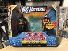 MATTEL BATMAN ROBIN DYNAMIC DUO 2-PACK YOUNG JUSTICE DC UNIVERSE ACTION FIGURE