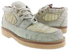 Mens Off White Full Genuine Crocodile Alligator Skin Cowboy Western Style Shoes