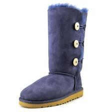 Scarpe stivali di camoscio blu per bambine dai 2 ai 16 anni