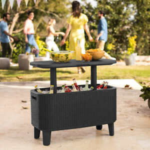 KETER Bevy Bar Table and Cooler COMBO, Gray (1102)