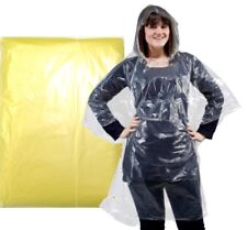PONCHO Adult Yellow Waterproof Festival Events (Pack of 5) 75010281-5