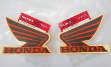 Honda Wing Fuel Tank Decal Wings Sticker 2 x 95mm Candy Energy Orange Dark Grey