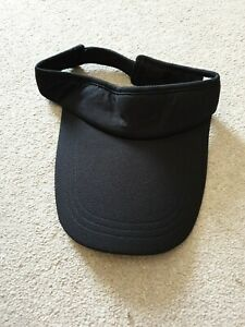 Brand New adjustable Black Running Visor