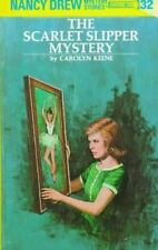 NANCY DREW THE SCARLET SLIPPER MYSTERY#32/Carolyn Keene/HC/BUY 4 ITEMS SHIP FREE