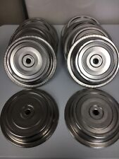 """LOT OF (10) VOLLRATH HEAVY DUTY COMMERCIAL S.S. 10"""" PLATE DOME COVER/LIDS"""
