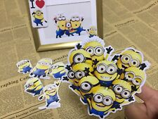 9 x Minion sticker scrapbook party candy bag birthday party gift free post