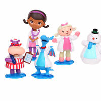 Doc Mcstuffins Check Up Time Dottie Action Figure Doll Cake Topper Xmas Toy 5PCS