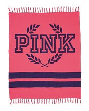 VICTORIA'S SECRET PINK HOT NEON BOYFRIEND BLANKET FESTIVAL BEACH PICNIC LARGE