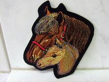 Aufnäher Aufbügler Patch Pferd und Fohlen - 8 x 10 cm
