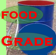 44 Gallon Drums $20 Each With METAL Lid- as NEW Food Grade Lot of 2