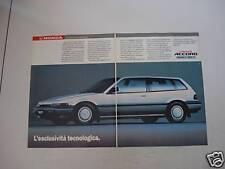 advertising Pubblicità 1988 HONDA ACCORD AERODECK