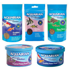 Aquarian Goldfish, Catfish, Tropical Aquarium Fish Food - Flakes Wafers Pellets