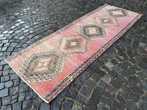 Wool rug, Runner rug, Vintage rug, Turkish rug, Bohemian rug |  3,4 x 9,4 ft