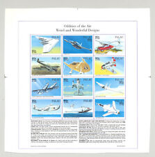 Palau #404 Aircraft, Aviation 1v M/S of 12 Imperf Proof
