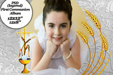 "Photoshop Templates for First Communion Photo Book 8x12"",12x12 Vol 1"