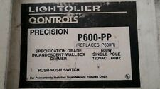 Lightolier Controls Precision P600-Pp Single Pole Roatry Dimmer - White