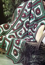 LOVELY Christmas Poinsettia Afghan/Crochet Pattern Instructions