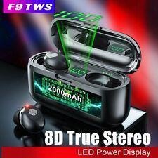 F9 TWS Auriculares Estéreo 8D Bluetooth 5.0 Inalámbricos Llamada HD Impermeable