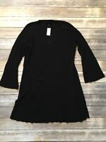 Lane Bryant Womens Shift A-Line Cotton Rayon Dress Black 26/28