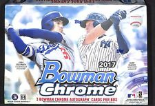 2017 Bowman Chrome Baseball Sealed HTA Hobby Box