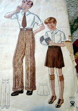 LOVELY VTG 1930s BOYS TROUSERS & SHORTS Sewing Pattern 12