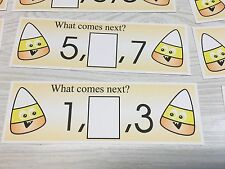 Candy Corn - Numbers - Laminated Activity Set - Teaching Supplies