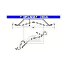 ATE Feder für Bremssattel vorne Dacia Fiat Ford Lancia Mazda Opel Renault Toyota