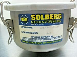 Solberg CSL-842-050HC Vacuum Filter, with filter, new