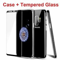 Case Cover + Tempered Glass Screen Protector For Galaxy S8 S9 S10 Plus Note 8 9