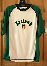 Ireland T Shirt S white green short sleeve polyester football Irish