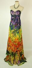 NEW Jovani $550 NWT Silk Mult Prom Formal Long Size 6 Strapless Homecoming Dress