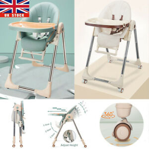 5 in 1 Adjustable Baby Highchair Foldable Feeding High Chair Toddler Seat Table