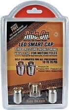 RIDE-ON LED Smart Valve Stem Pressure Caps - Motorcycle Scooter - Pair SCLP-BP2
