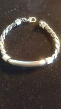 Stainless Steel and Braided Metal Men's Bracelet Ready to Be Engraved