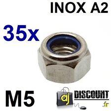 35x Ecrou frein NYLSTOP - M5 - INOX A2 - DIN 985 - Indésserable