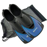 Mares HERMES ADULTS Swim Snorkel Training Short Fins Flippers + FREE BAG - BLUE