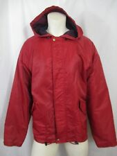 GAP VARSITY CLASSIC HOODED COAT JACKET SIZE XL WATER REPELLENT, RED VIC-THOR1