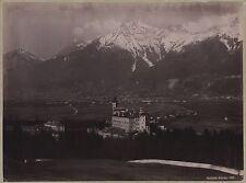 Schloss Amras InnsbruckAutriche par Fritz Gratl Vintage photomécanique ca 1890